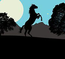 Silhouette Horse by Sacredrite