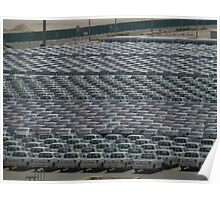 Pattern of New Vehicles Awaiting delivery in Dubai Poster