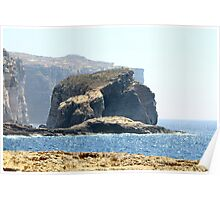 Fungus Rock, Gozo, Malta Poster