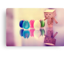 Danbo Found Some Eggs! Canvas Print