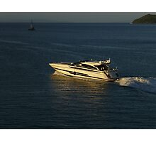 Luxury Motor Yacht in Seychelles Photographic Print