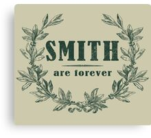 SURNAME - SMITH Canvas Print