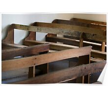 Dunker Church Pews - Antietam National Battlefield Poster