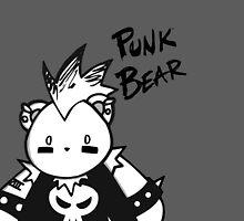 CHUBBY CHIBI PUNK BEAR by chibicelina