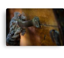 Transom Hardware - Antique Boat Canvas Print