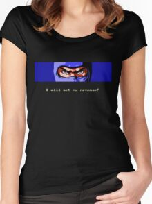 Ninja Revenge on black Women's Fitted Scoop T-Shirt
