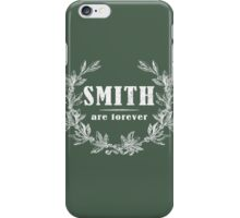 SURNAME - SMITH on BLACK iPhone Case/Skin