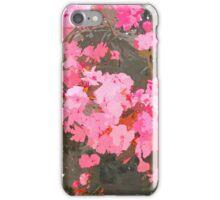 Pink flowers watercolor. iPhone Case/Skin
