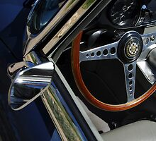 1963 Jaguar XKE Roadster Steering Wheel by Jill Reger