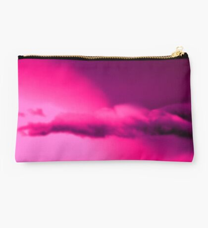 Striking Stormy Clouds - Pink & Purple Studio Pouch