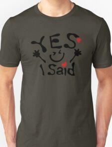 I said yes txt big smiley face T-Shirt