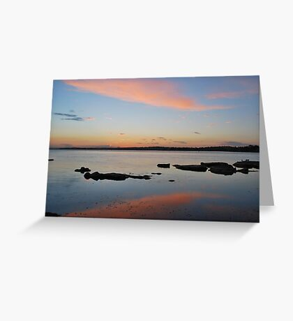 Tuggerah Lake 22-10-10 ( sunset ) Greeting Card