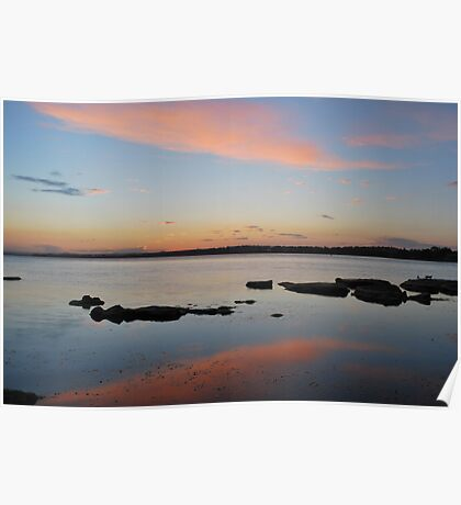 Tuggerah Lake 22-10-10 ( sunset ) Poster