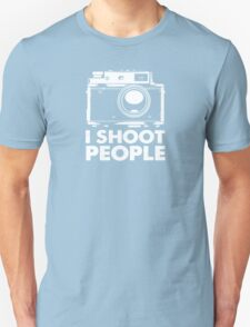 I Shoot People White Camera Unisex T-Shirt