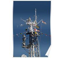 Radio Mast of HMS Belfast Poster