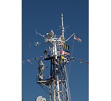 Radio Mast of HMS Belfast Photographic Print