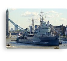 HMS Belfast 7 Canvas Print