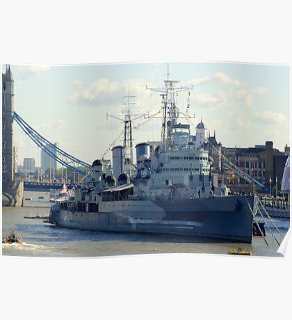 HMS Belfast 7 Poster