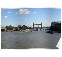 Canary Wharf Tower Bridge and HMS Belfast 2 Poster
