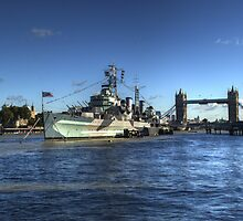 HMS Belfast and Tower Bridge by Chris Day