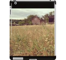 Fields of Pouporie with a Distressed Red Barn in the Distance  iPad Case/Skin