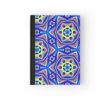 Pattern 507 - Blue, Green, Yellow, Black, and Red Hardcover Journal