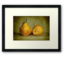 dos pear Framed Print