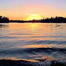 SUNSET  ON THE BAY  by Marie  Morrison