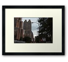 Building Lined Trees Framed Print