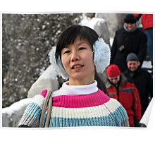 Winter Warmers, Badaling, Great Wall, China Poster