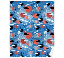 fish pattern Poster