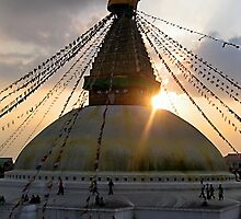 big xmas love. bouddha stupa by tim buckley | bodhiimages