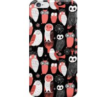 pattern different owls iPhone Case/Skin