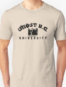 GHOST B.C. UNIVERSITY - BLACK Unisex T-Shirt