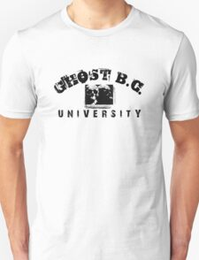 GHOST B.C. UNIVERSITY - BLACK T-Shirt