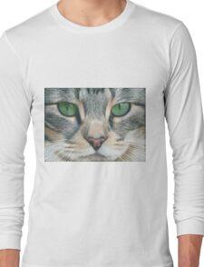 Emerald Eyes Scratch Art Long Sleeve T-Shirt