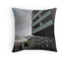 Setting Sun Lights the Clounds Over a Modern Cityscape - Malmö, Sweden Throw Pillow