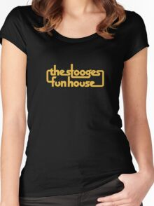 Stooges Fun House Women's Fitted Scoop T-Shirt