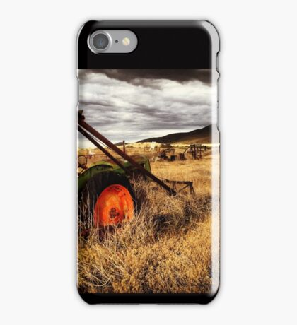Abandoned Tractor in Fields of Gold, Waiting for the Storm iPhone Case/Skin