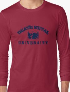DEATH METAL UNIVERSITY - BLUE Long Sleeve T-Shirt