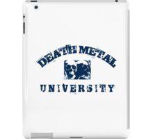 DEATH METAL UNIVERSITY - BLUE iPad Case/Skin