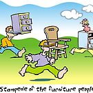 stampede of the furniture people by Matt Mawson