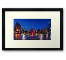 The relocated fountain at Victoria Square. Framed Print