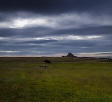 Holy Island Castle  - Panoramic by Nigel Bangert