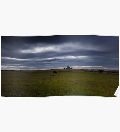 Holy Island Castle  - Panoramic Poster