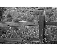A Wooden Fence Photographic Print
