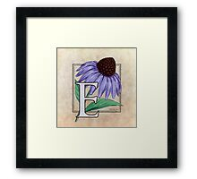 E is for Echinacea Framed Print