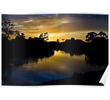 Inlet at sunrise Poster