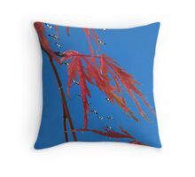 The Snow Geese Are Here Throw Pillow