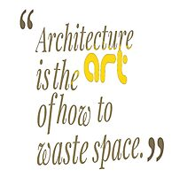architecture is the art of how to waste space Photographic Print